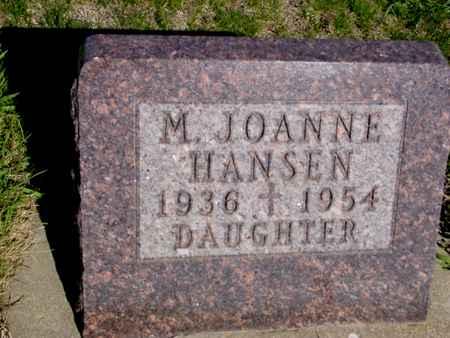 HANSEN, M. JOANNE - Crawford County, Iowa   M. JOANNE HANSEN