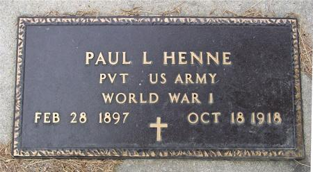 HENNE, PAUL L. - Crawford County, Iowa | PAUL L. HENNE
