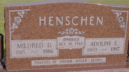 HENSCHEN, MILDRED & ADOLPH - Crawford County, Iowa | MILDRED & ADOLPH HENSCHEN