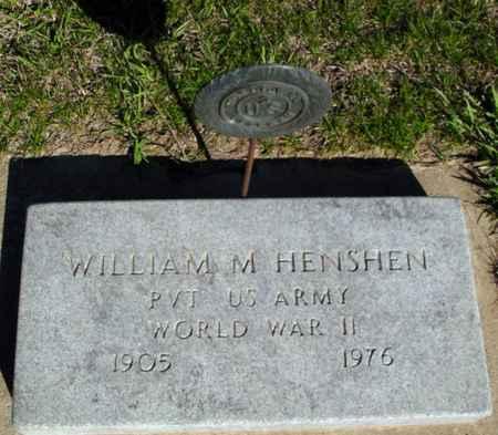 HENSHEN, WILLIAM H. - Crawford County, Iowa | WILLIAM H. HENSHEN