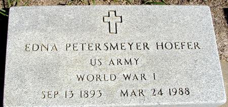 PETERSMEYER HOEFER, EDNA - Crawford County, Iowa   EDNA PETERSMEYER HOEFER