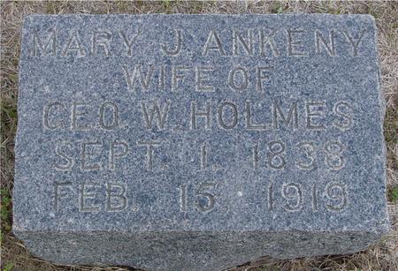 ANKENY HOLMES, MARY J. - Crawford County, Iowa | MARY J. ANKENY HOLMES