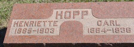 HOPP, CARL & HENRIETTE - Crawford County, Iowa | CARL & HENRIETTE HOPP