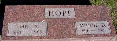 HOPP, EMIL A. & MINNIE - Crawford County, Iowa | EMIL A. & MINNIE HOPP