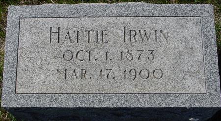 IRWIN, HATTIE - Crawford County, Iowa | HATTIE IRWIN