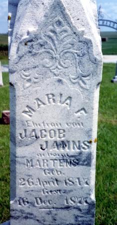 MARTENS JANNS, MARIA F. - Crawford County, Iowa | MARIA F. MARTENS JANNS