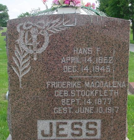 JESS, HANS F. - Crawford County, Iowa | HANS F. JESS