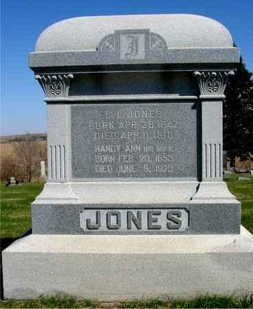 JONES, S. L. & NANCY ANN - Crawford County, Iowa | S. L. & NANCY ANN JONES