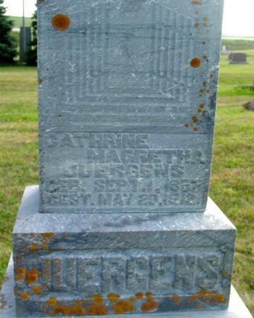 JUERGENS, CATHRINE - Crawford County, Iowa   CATHRINE JUERGENS