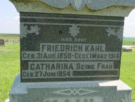 KAHL, FRIEDRICH - Crawford County, Iowa | FRIEDRICH KAHL