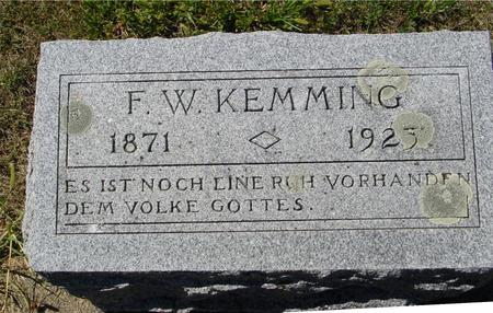 KEMMING, F. W. - Crawford County, Iowa | F. W. KEMMING