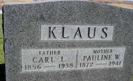 KLAUS, CARL & PAULINE - Crawford County, Iowa | CARL & PAULINE KLAUS