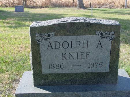 KNIEF, ADOLPH A. - Crawford County, Iowa | ADOLPH A. KNIEF