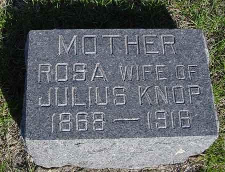KNOP, ROSA - Crawford County, Iowa   ROSA KNOP