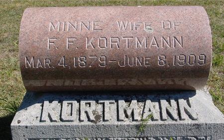 KORTMANN, MINNIE - Crawford County, Iowa | MINNIE KORTMANN