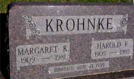 KROHNKE, HAROLD & MARGARET - Crawford County, Iowa   HAROLD & MARGARET KROHNKE