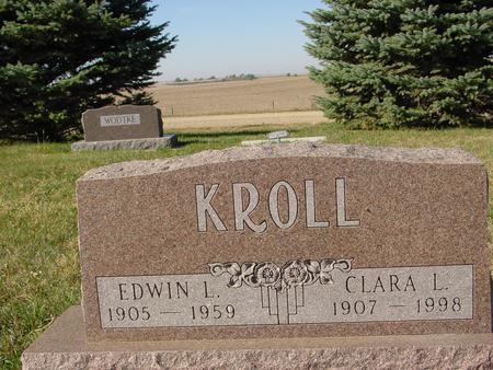 KROLL, EDWIN & CLARA - Crawford County, Iowa | EDWIN & CLARA KROLL