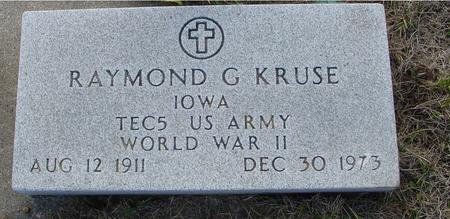 KRUSE, RAYMOND G. - Crawford County, Iowa   RAYMOND G. KRUSE