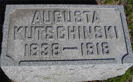 KUTSCHINSKI, AUGUSTA - Crawford County, Iowa   AUGUSTA KUTSCHINSKI