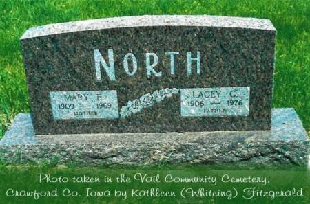 NORTH, LACEY CRAIG (SR.) & MARY E. (SLATER) - Crawford County, Iowa | LACEY CRAIG (SR.) & MARY E. (SLATER) NORTH