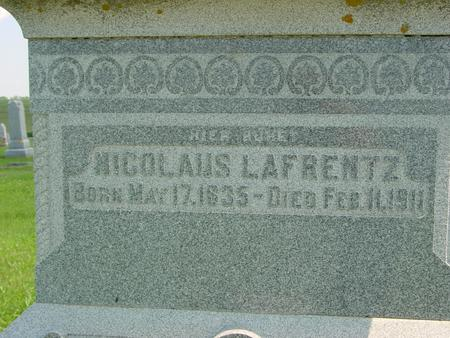 LAFRENTZ, NICOLAUS - Crawford County, Iowa   NICOLAUS LAFRENTZ