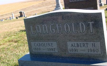 LANGHOLDT, ALBERT & CAROLINE - Crawford County, Iowa | ALBERT & CAROLINE LANGHOLDT