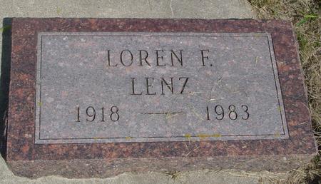 LENZ, LOREN F. - Crawford County, Iowa | LOREN F. LENZ