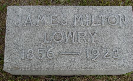 LOWRY, JAMES MILTON - Crawford County, Iowa | JAMES MILTON LOWRY
