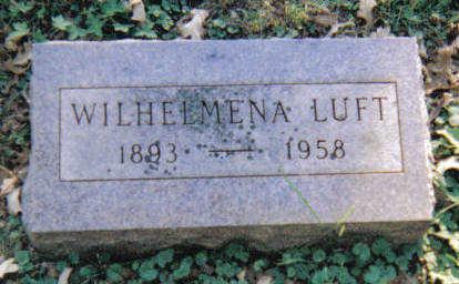 LUFT, WILHELMINA - Crawford County, Iowa | WILHELMINA LUFT