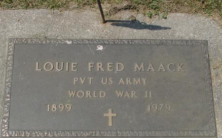 MAACK, LOUIE FRED - Crawford County, Iowa | LOUIE FRED MAACK