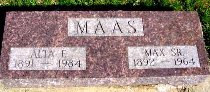 MAAS, MAX SR. & ALTA F. - Crawford County, Iowa   MAX SR. & ALTA F. MAAS