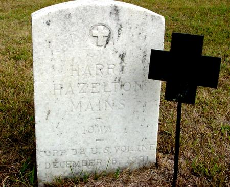 MAINS, HARRY HAZELTON - Crawford County, Iowa | HARRY HAZELTON MAINS
