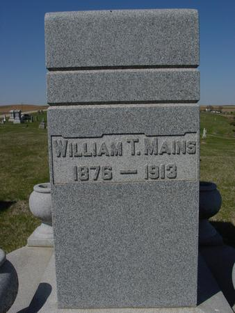 MAINS, WILLIAM T. - Crawford County, Iowa | WILLIAM T. MAINS