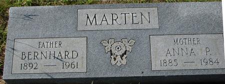 MARTEN, BERNHARD & ANNA - Crawford County, Iowa   BERNHARD & ANNA MARTEN
