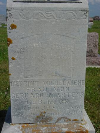 KUCK MARTENS, WILHELMIENE - Crawford County, Iowa | WILHELMIENE KUCK MARTENS