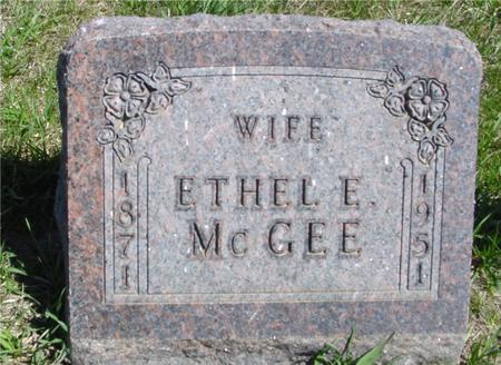 MCGEE, ETHEL E. - Crawford County, Iowa   ETHEL E. MCGEE