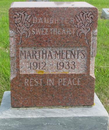 MEENTS, MARTHA - Crawford County, Iowa | MARTHA MEENTS