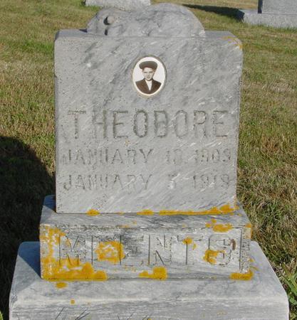 MEENTS, THEODORE - Crawford County, Iowa   THEODORE MEENTS