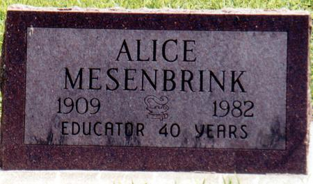 MESENBRINK, ALICE - Crawford County, Iowa | ALICE MESENBRINK