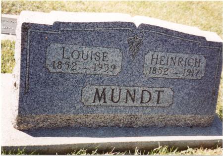 MUNDT, HEINRICH & LOUISE - Crawford County, Iowa | HEINRICH & LOUISE MUNDT
