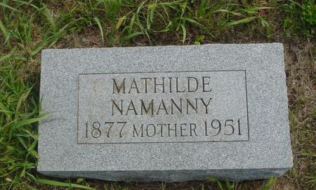 NAMANNY, MATHILDE - Crawford County, Iowa | MATHILDE NAMANNY