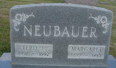 NEUBAUER, FERD & MARGARET - Crawford County, Iowa | FERD & MARGARET NEUBAUER