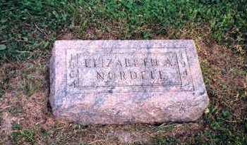 NORELIUS NORDELL, ELIZABETH - Crawford County, Iowa | ELIZABETH NORELIUS NORDELL
