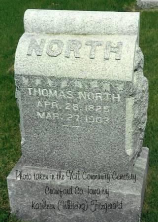 NORTH, THOMAS HENRY (SR.) - Crawford County, Iowa | THOMAS HENRY (SR.) NORTH
