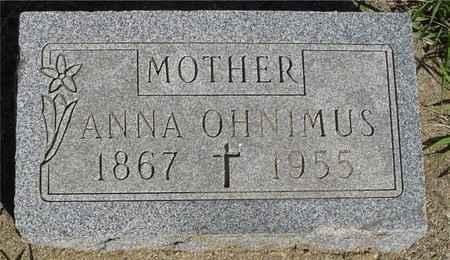 OHNIMUS, ANNA - Crawford County, Iowa | ANNA OHNIMUS