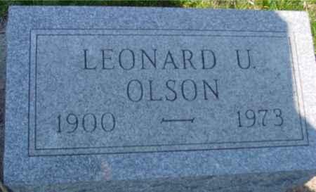 OLSON, LEONARD U. - Crawford County, Iowa | LEONARD U. OLSON