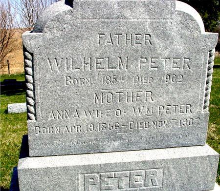 PETER, WILHELM & ANNA - Crawford County, Iowa | WILHELM & ANNA PETER