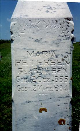 PAULSEN PETERSEN, MARIA - Crawford County, Iowa | MARIA PAULSEN PETERSEN