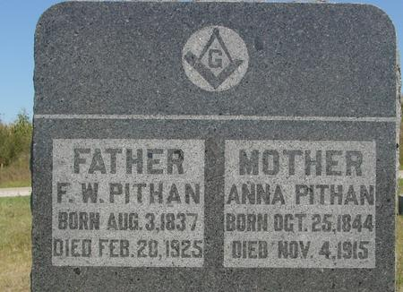 PITHAN, F. W. & ANNA - Crawford County, Iowa   F. W. & ANNA PITHAN