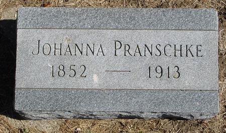 PRANSCHKE, JOHANNA - Crawford County, Iowa   JOHANNA PRANSCHKE